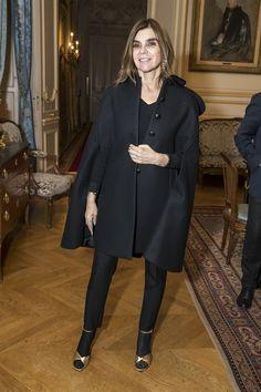 "CARINE ROITFELD - Nadja Swarovski ""Chevalier de l'Ordre des Arts et des Lettres"" - Cocktail - March 2017 #PFW"