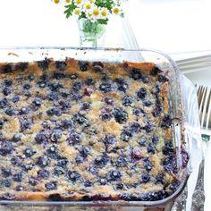 FOODjimoto: Custard Mochi with Blueberries