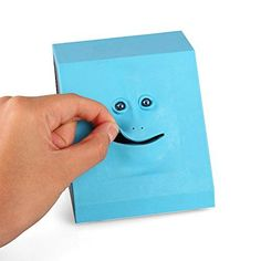 Powstro Face Bank Coin Eating Saving Bank Automatic Money Saving Box (Blue)