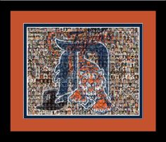 Detroit Tigers Mosaic Print Art Created Using 200 Past and Present Tiger Players, by TheMosaicGuy, $35.00