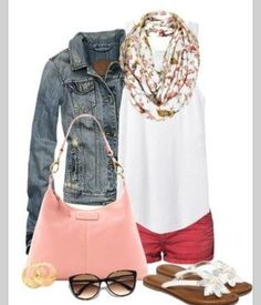 Summer- add long pants (solid color or jeans) for fall