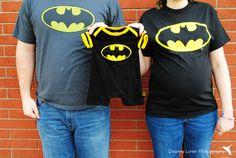 Batman theme maternity pictures idea | Superhero maternity picture posing ideas | Batman onsie | Chagrin Falls, Ohio