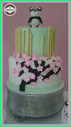 Torta de Baby shower de ositia panda