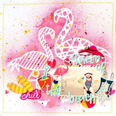 You can never have too much flamingów ❤️❤️❤️ I used flamingo stencils and @shimmerzpaints mists to create fun background for mu summer photo. You can also find a process video on my YouTube channel. Search for Anna Komenda #shimmerz #shimmerzpaints #scrapbook #scrapbooking #scrapbooklayout #scrapbookinglayout #layout #mixedmedia #flamingo #beach #summer #pink #annakomenda #moriony #skrapowisko