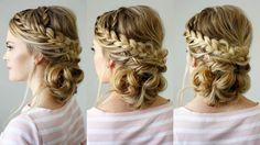 Double Braid Textured Updo | Missy Sue
