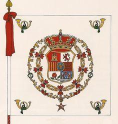 Bandera del Regimiento de Infantería Ligera Castilla Nº 1 Spanish Flags, French Revolution, Napoleonic Wars, Rey, Colours, King, Image, Military, Coats