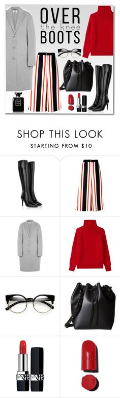 """high boots"" by monykhaled ❤ liked on Polyvore featuring Prada, Dolce&Gabbana, Acne Studios, Vanessa Bruno, Gabriella Rocha, Christian Dior and Chanel"
