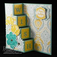 Stampin' Up! Simple Stems and an Inside Step Card Fold by Debbie Henderson, Debbie's Designs.