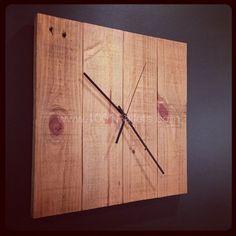 DIY Pallet Clock Pallet in the Living room