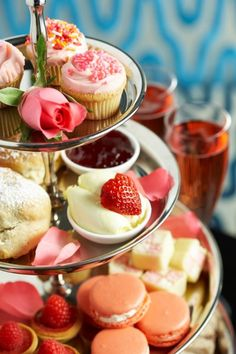 Pink Afternoon Tea, just one of the many delicious varieties on offer at Flemings!