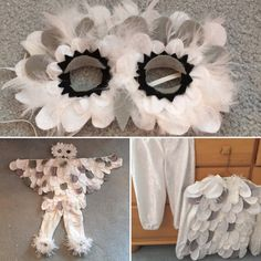 Handmade Snowy Owl Costume Set Hedwig by GillesPieGoods on Etsy