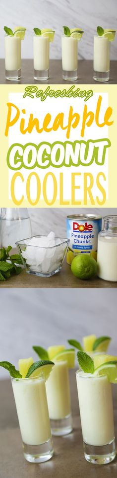 This one's a real crowd pleaser. Just blend DOLE® Canned Pineapple Chunks with … This one's a real crowd pleaser. Just blend DOLE® Canned Pineapple Chunks with coconut milk, rum, lime juice and ice. Party Drinks, Cocktail Drinks, Fun Drinks, Healthy Drinks, Cocktail Recipes, Mixed Drinks, Healthy Food, Coco Cocktail, Drunk Party