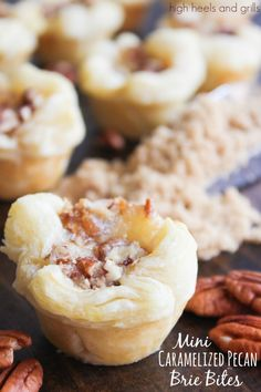 High Heels & Grills: Mini Caramelized Pecan Brie Bites