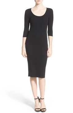Free shipping and returns on Leith Scoop Neck T-Shirt Dress at Nordstrom.com. Simultaneously laid-back and impeccably styled, this stretch-knit dress is framed with classic three-quarter sleeves and fashioned after your most comfortable scoop-neck tee.
