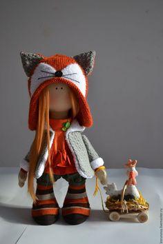 Человечки ручной работы. Ярмарка Мастеров - ручная работа. Купить Рыжая. Handmade. Рыжий, петух, интерьерная кукла, пряжа