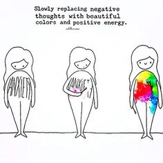 Slowly replacing negative thoughts with beautiful colors and positive energy :)