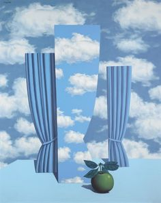 Painting by René Magritte (1898-1967), 1962, Le beau monde.
