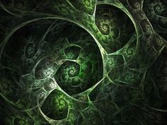 Green Fractal Shell HD cover background download for your mobile, tablet, tv and desktops