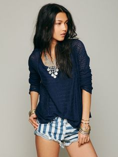 Free People Open Back Pullover at Free People Clothing Boutique