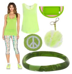 """""""Pretty Green Combination"""" by donna-wang1 ❤ liked on Polyvore featuring Splendid, Lolli Swim, Anya Hindmarch, Dinosaur Designs and Trina Turk"""