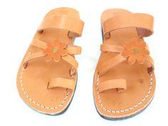 New Arrival FLOWER Leather Sandals Women's Shoes by Sandalimshop