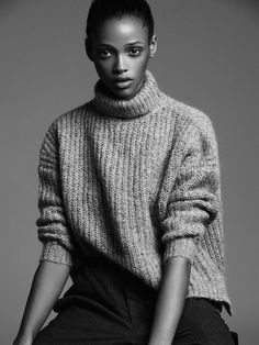tomboy simple: turtle neck sweaters