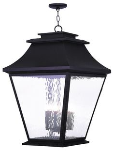 Livex Lighting 20253-07 Hathaway Outdoor Chain Hang Lantern Bronze