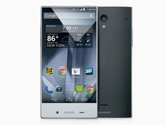 sharp aquos crystal smartphone offers edge-to-edge user experience - designboom | architecture