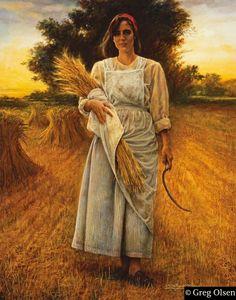 "❤ One of my favorite things: ""Think Abundance"" - Painting by Greg Olsen Church Pictures, Jesus Pictures, Bible Pictures, Greg Olsen Art, Biblical Art, Art Themes, Artist Art, Love Art, Harvester"