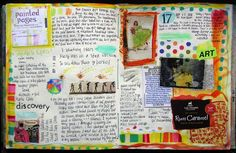 Love the combo of art journaling with a lot of writing.