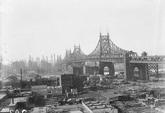 Queensboro Bridge from Long Island City. January 27, 1937.