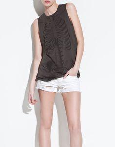 SKELETON T-SHIRT - T-shirts - TRF - ZARA Holanda