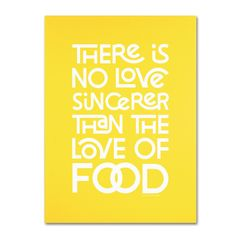 Sincere Love of Food V by Megan Romo Textual Art on Wrapped Canvas
