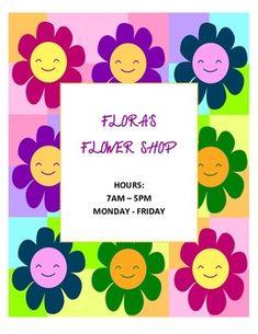 Dramatic Play-Flower Shop  http://www.teacherspayteachers.com/Product/DRAMATIC-PLAY-THEME-SIGNS-Flower-Shop-299480
