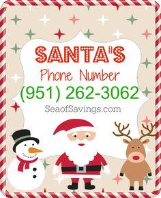 Here is Santa's Phone Number!! #Santa #Christmas