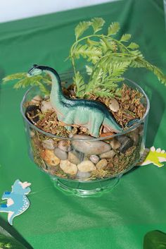 Dinosaur Birthday Party Ideas....have the kids make their own terreriums...