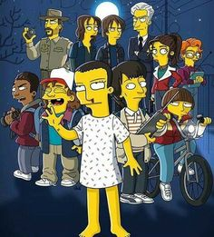 Cool! The simpsons and stranger things