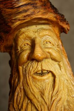 wood spirit carving | Wood Carving Wood Spirit, Valentines Day Gift Rustic Log Cabin Decor ...