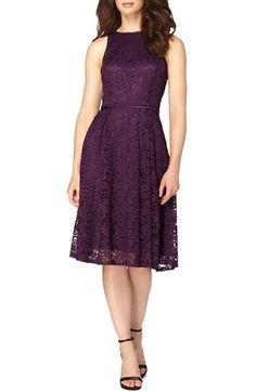 Free shipping and returns on Tahari Lace Fit & Flare Midi Dress at Nordstrom.com. Sheer floral lace overlays lustrous tonal lining to create a captivating, dimensional silhouette for this sleeveless party dress pleat-flared through the skirt for a classically femme look.