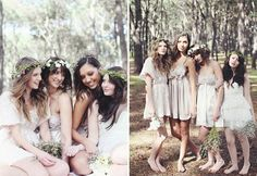 Woodland wedding bridesmaids