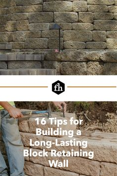 It takes skill and planning to construct an attractive wall that can also handle immense pressure, shrug off the forces of gravity, stand for decades and laugh in the face of Mother Nature. Retaining Wall Blocks, Building A Retaining Wall, Top Course, Drain Tile, Prior Lake, Pea Gravel, Crushed Stone, Top Soil, Landscape Walls