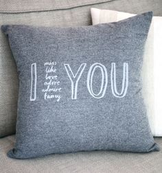 I Adore You Cushion Cover