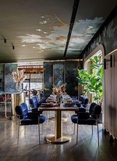 Restaurant Riviera on Behance Restaurant Layout, Cafe Restaurant, Restaurant Design, Bar Design Awards, Interior Architecture, Interior Design, American Restaurant, Fine Dining, Furniture Design