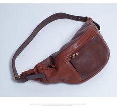 ec644b0f7bdd7 Cool Leather Mens FANNY PACK MENS WAIST BAG HIP PACK BELT BAG FOR MEN