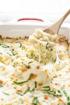 Spinach, Artichoke & Red Pepper Quinoa Bake