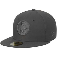 c29a175a0fd Men s Pittsburgh Steelers New Era Graphite Tonal League Basic 59FIFTY  Fitted Hat