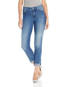 NYDJ Womens Sylvia Relaxed Boyfriend Jeans with Frayed Roll Cuff Avignon 4 ** To view further for this item, visit the image link-affiliate link. #Jeans