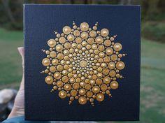 Dot Mandala Painting Christmas Star on Wrapped by LaBellaArtigiana