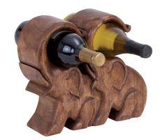 Two-bottle elephant wine holder by Nostalgic Finds . Deco Elephant, Elephant Love, Elephant Art, Elephant Gifts, Elephant Stuff, Elephant Bedding, Elephant Table, Wine Bottle Labels, Wine Bottle Holders