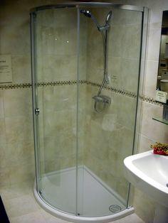corner surround with slimline shower - Corner Shower Stalls